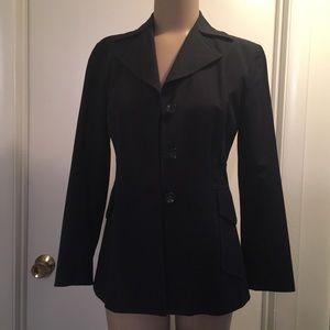 Banana Republic sz 4 black cotton jacket